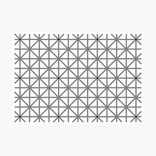 12 dot optical illusion Photographic Print