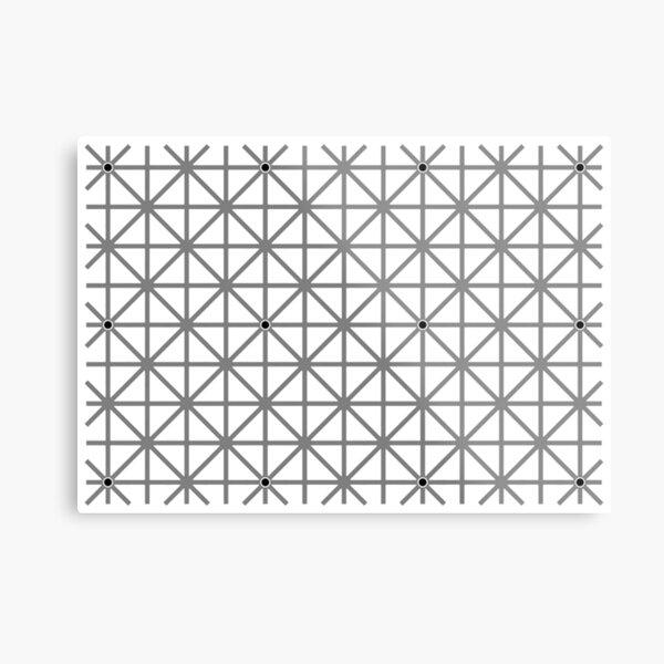 12 dot optical illusion Metal Print