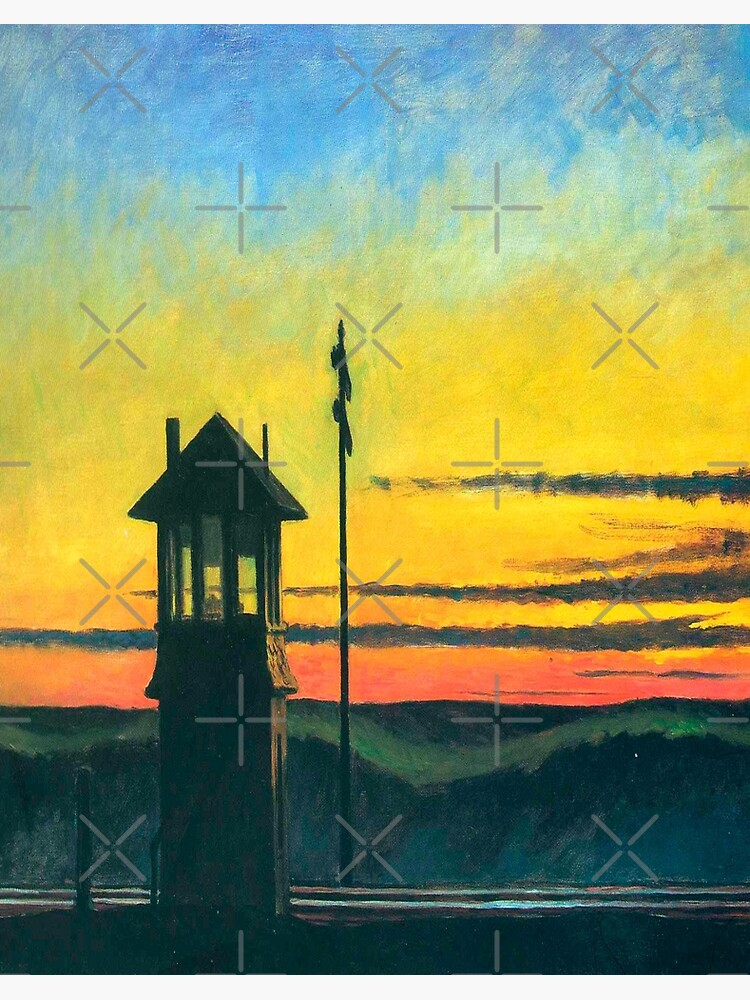 08969 EDWARD HOPPER RAILROAD SUNSET FINE ART LAMINATED POSTER FR