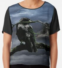 """Quoth The Raven, """"Nevermore"""" Chiffon Top"""