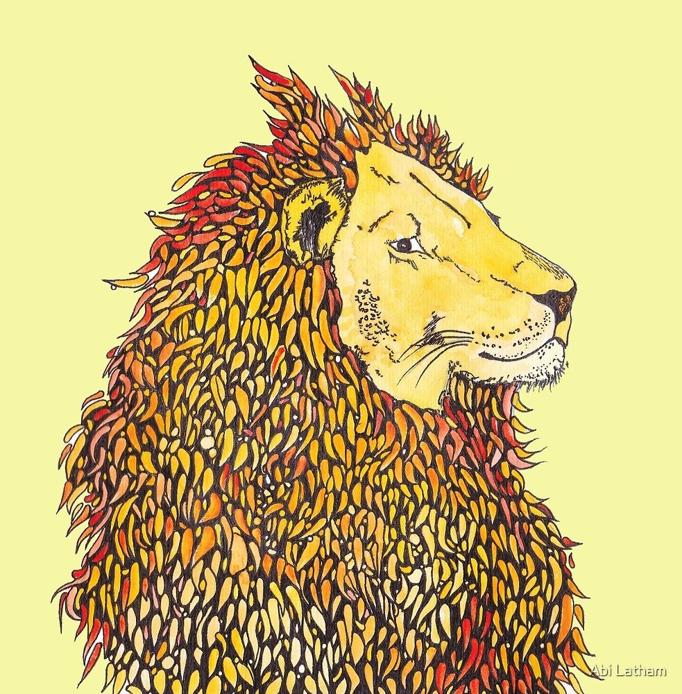 lion art by Abi Latham
