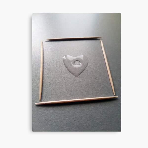 Water heart Canvas Print