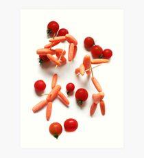Medieval Carrots! Art Print