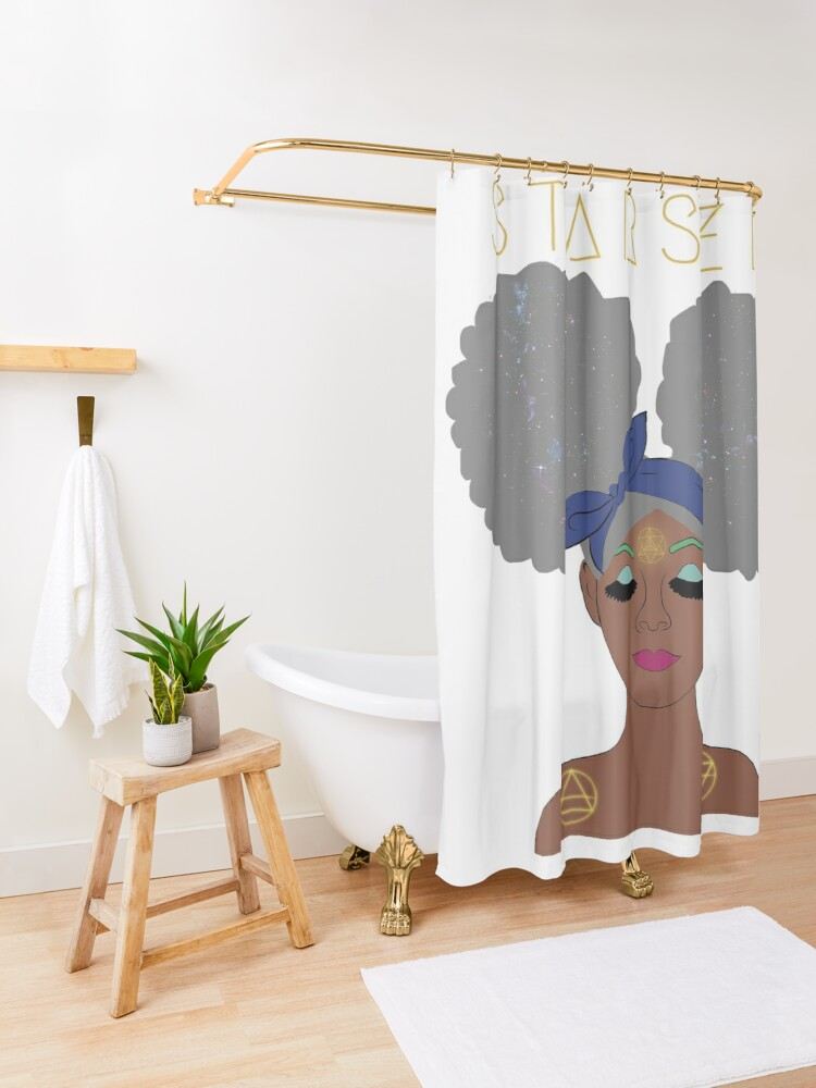 Alternate view of Starseed Shower Curtain