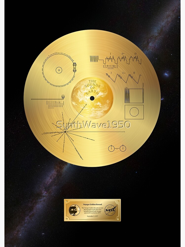 Voyager 1 Golden Record by SynthWave1950