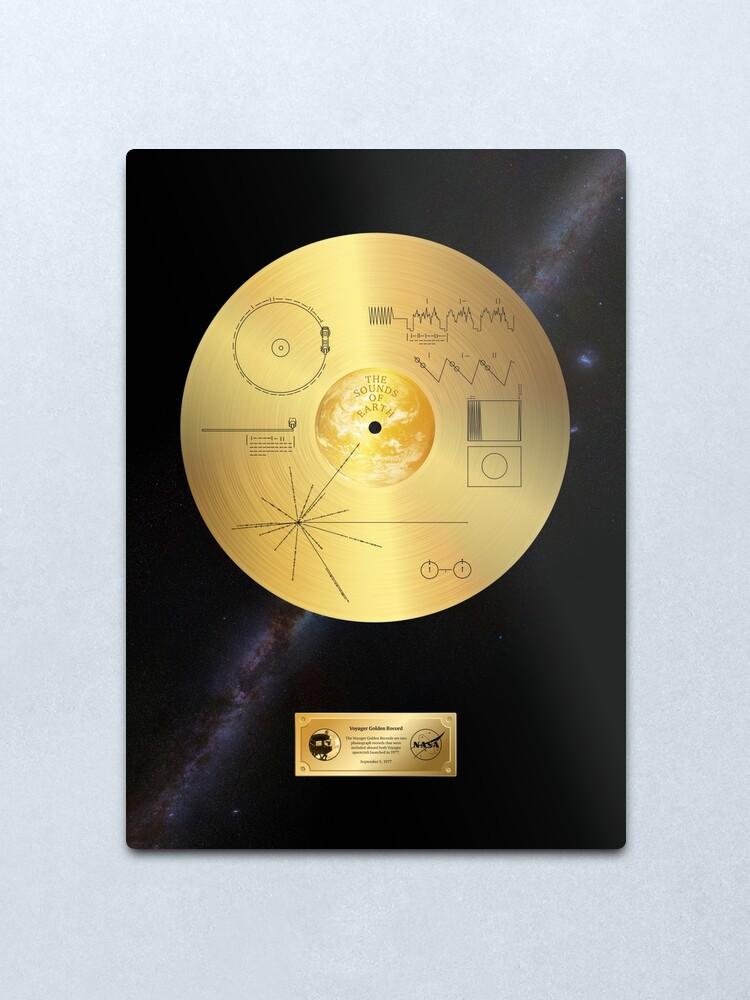 Alternate view of Voyager 1 Golden Record Metal Print