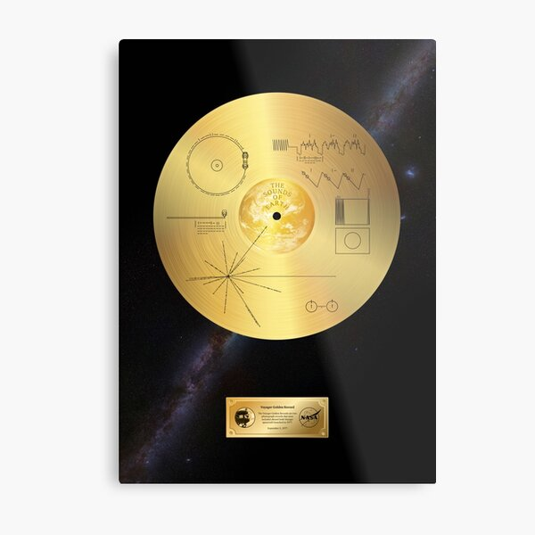 Voyager 1 Golden Record Metal Print