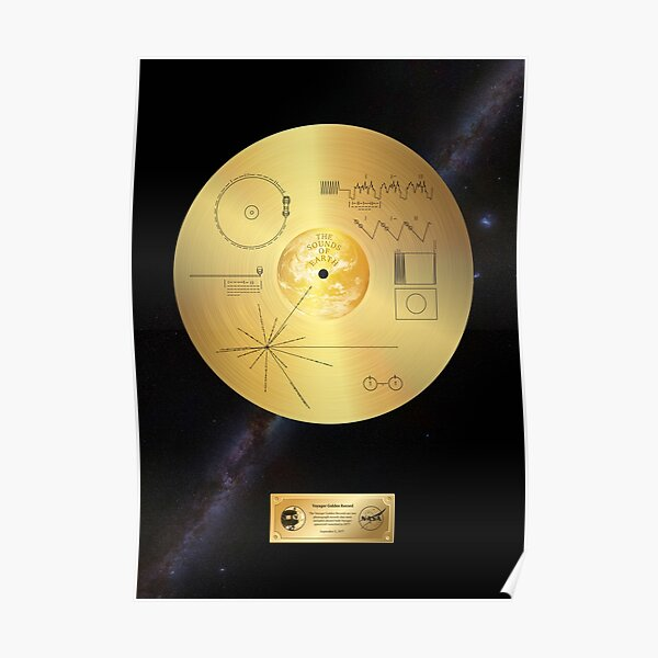 Voyager 1 Golden Record Poster