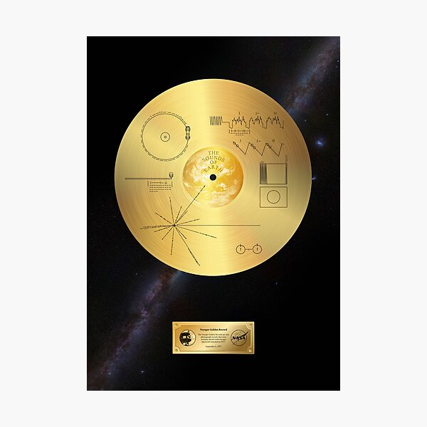 Voyager 1 Golden Record Photographic Print