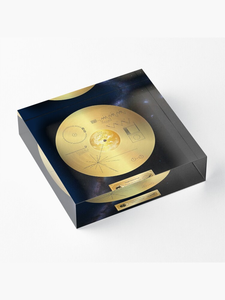 Alternate view of Voyager 1 Golden Record Acrylic Block