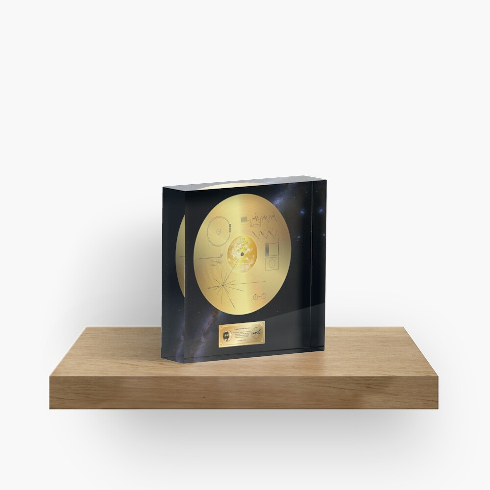 Voyager 1 Golden Record Acrylic Block
