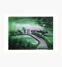 'Great Mitton: Where The Hodder and Ribble Meet' Art Print