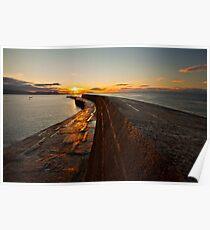 Sunrise over the Lyme Regis Cobb Poster