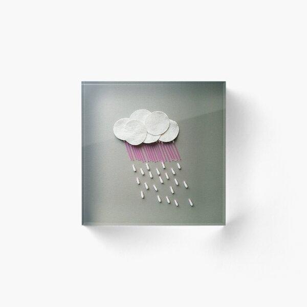 Cotton rain Acrylic Block