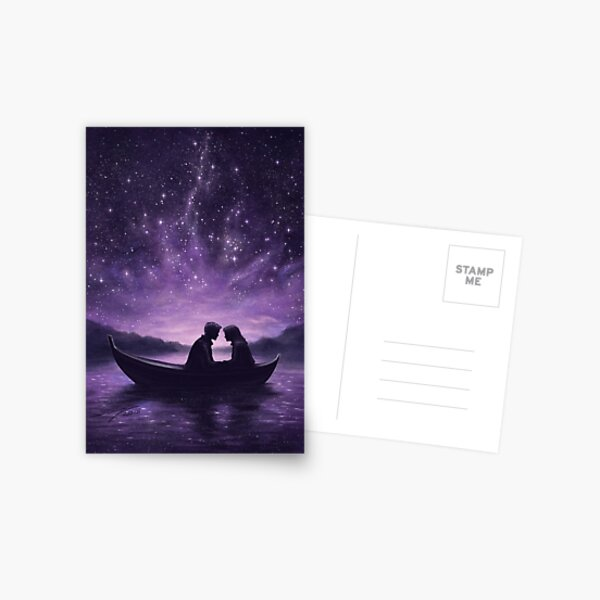 Lovers under a starlit sky Postcard