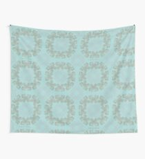 Gilded Rings of Butterflies Pale Cyan Green Wall Tapestry