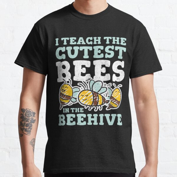 Cute Teacher Design with Bees Illustration Classic T-Shirt