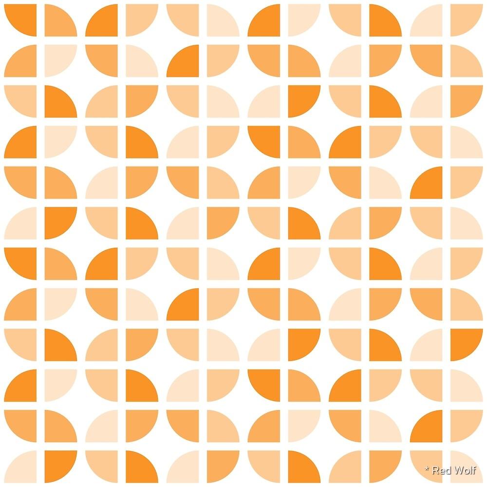 Geometric Pattern: Quarter Circle: Light/Orange by * Red Wolf