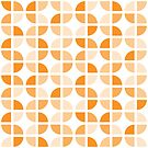 Geometric Pattern: Quarter Circle: Light/Orange by * Red Wolf