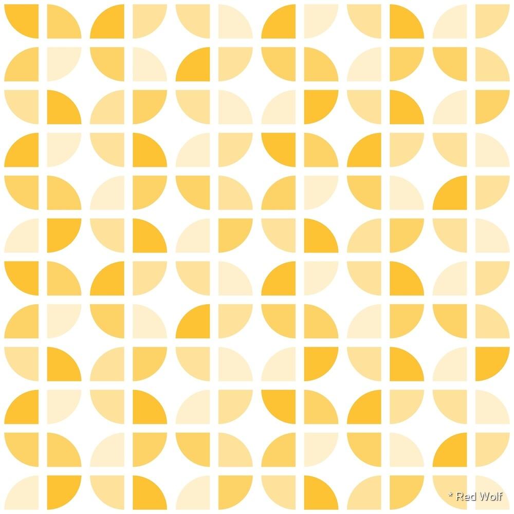 Geometric Pattern: Quarter Circle: Light/Yellow by * Red Wolf