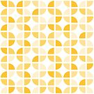 Geometric Pattern: Quarter Circle: Light/Yellow by * Red Wolf