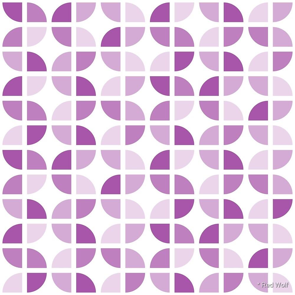 Geometric Pattern: Quarter Circle: Light/Purple by * Red Wolf