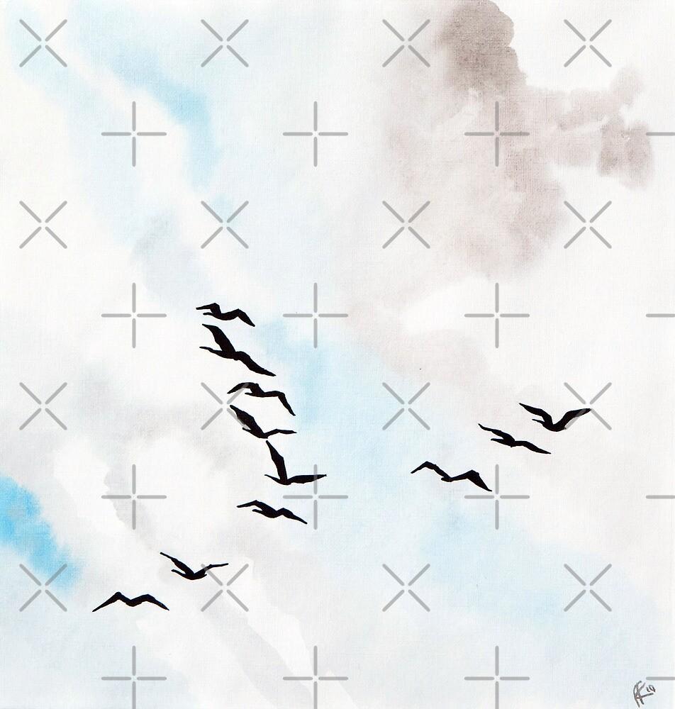 Birds 1 by Aleksandra Kabakova