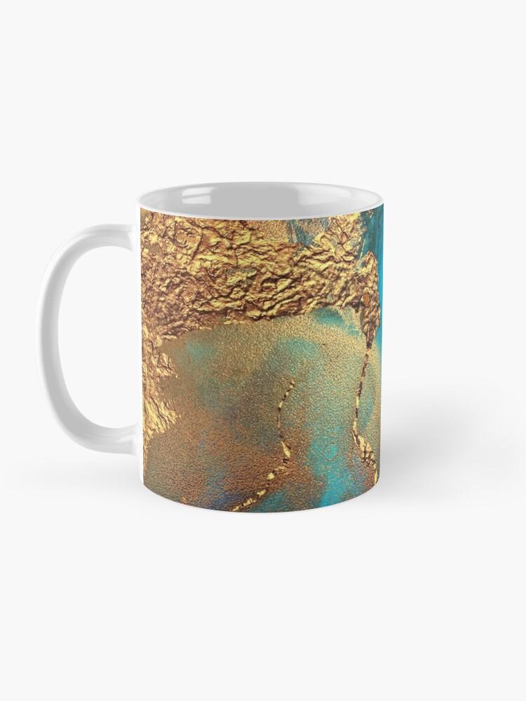 Alternate view of glamorous gold ink autumn texture Mug