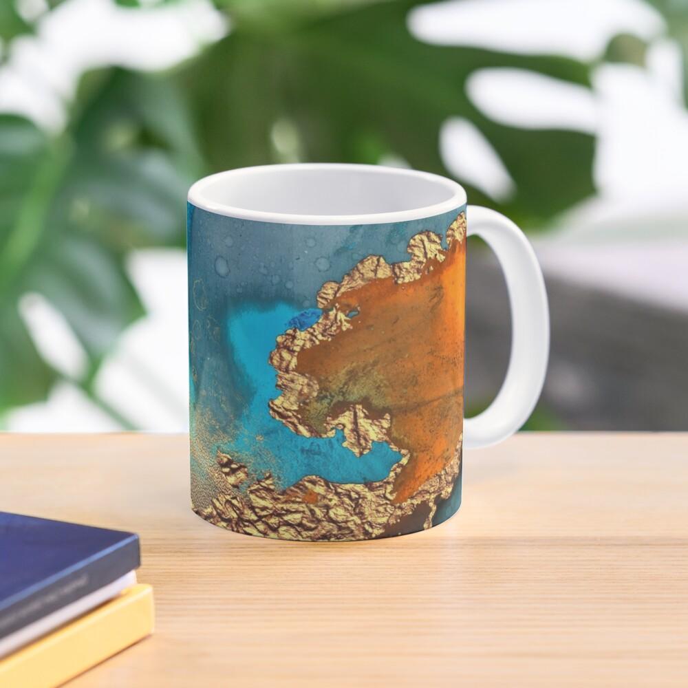 glamorous gold ink autumn texture Mug