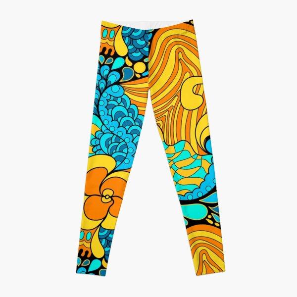 60s hippie psychedelic pattern Leggings