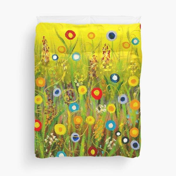 Happy Little Garden 1 Duvet Cover