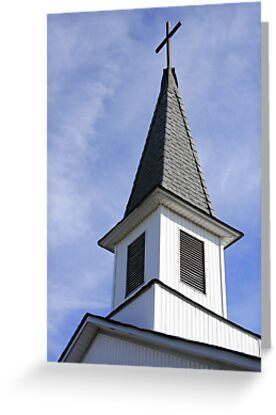 church steeple in close up by henuly1