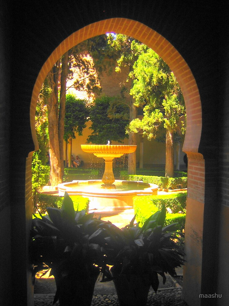Gardens of the Alhambra by maashu