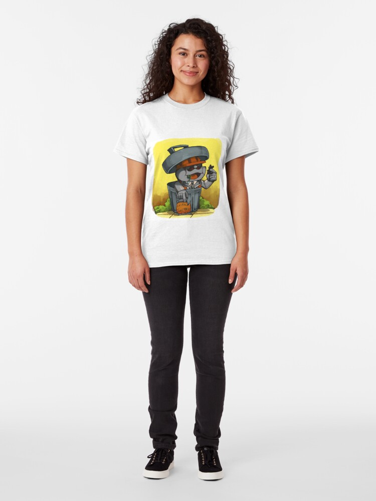 Alternate view of Garbage can man and gummies Classic T-Shirt