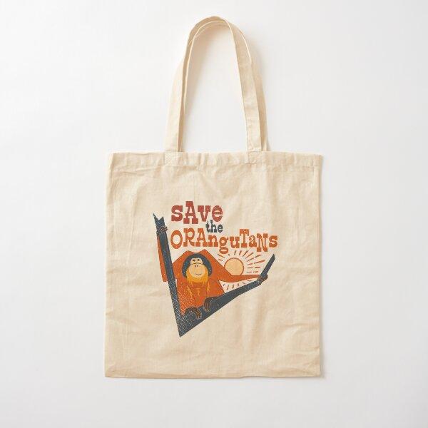 Save the Orangutans Cotton Tote Bag