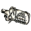 Traditional Ship in a Bottle Design by FOREVER TRUE TATTOO