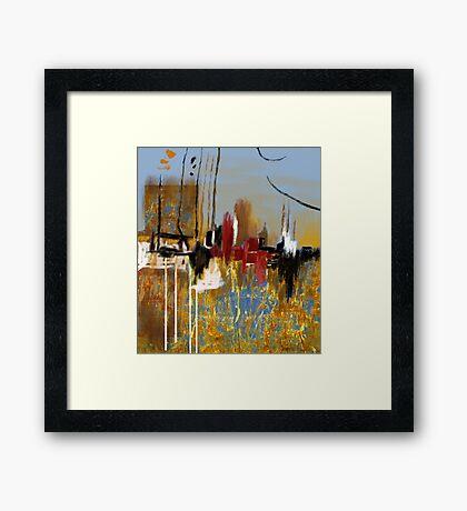 """""""Far Away City""""  Framed Print"""