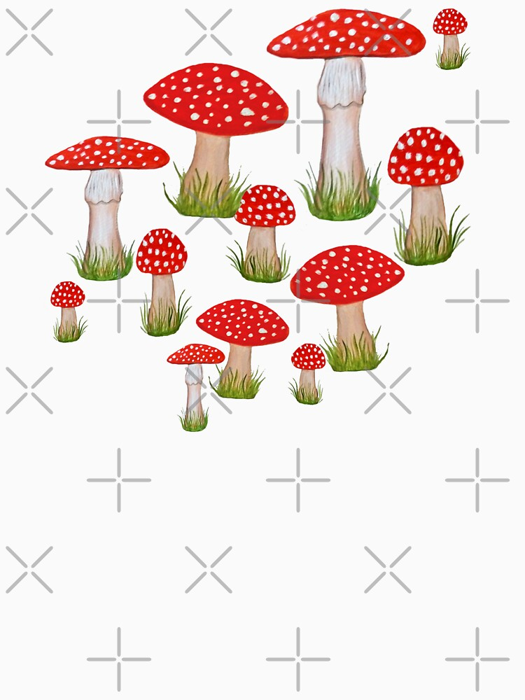 red toadstools / red mushrooms by MagentaRose
