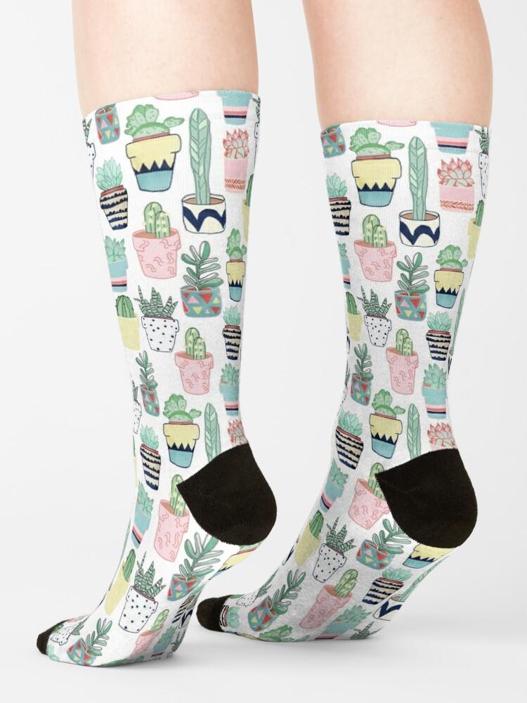 Alternate view of Cute Cacti in Pots Socks