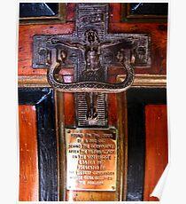 Church Door Plaque -Uplyme,Devon, Uk Poster