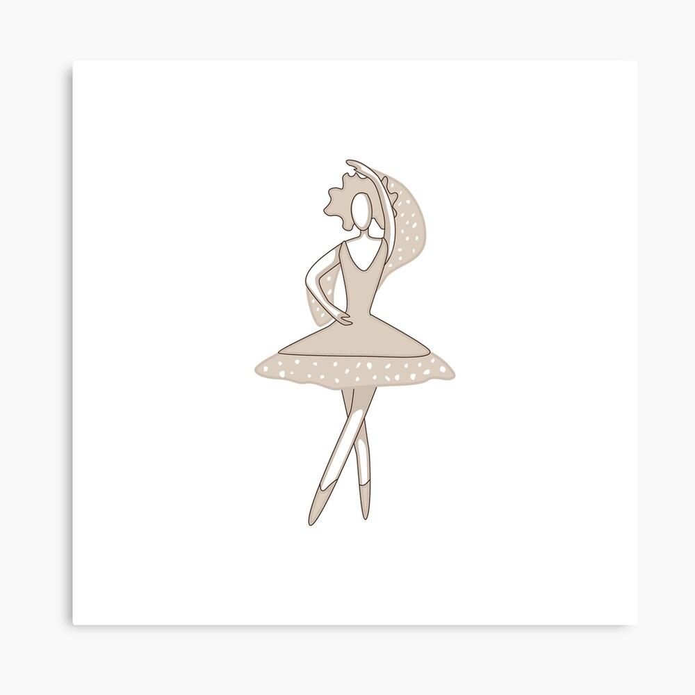 Dancing Ballerina Art Board Print By Mlanaa Redbubble