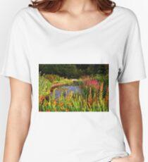 Delgatie Castle Pond (near Turriff, in Aberdeenshire, Scotland) Women's Relaxed Fit T-Shirt