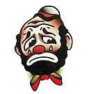 Traditional Crying Clown Tattoo Design by FOREVER TRUE TATTOO