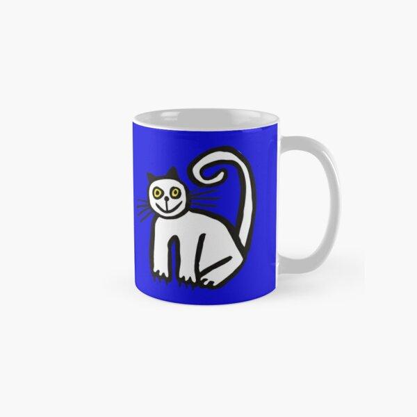 Happy Cat in Blue Classic Mug
