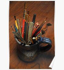 Mug of brushes Poster