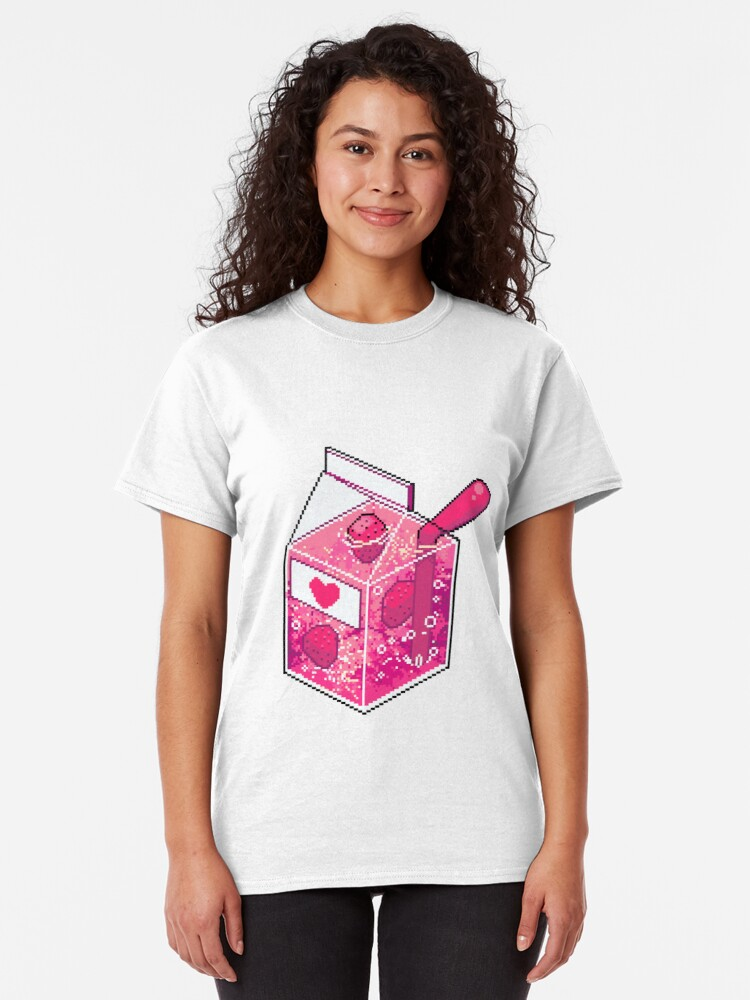Alternate view of Pink Strawberry Nebula Juice Classic T-Shirt