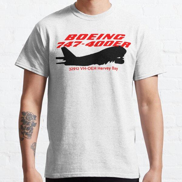 Boeing 747-400ER 32912 VH-OEH (Black)  Classic T-Shirt