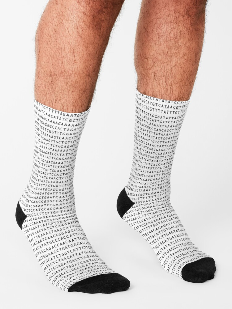 Alternate view of DNA Sequence - The Genetic Code Socks