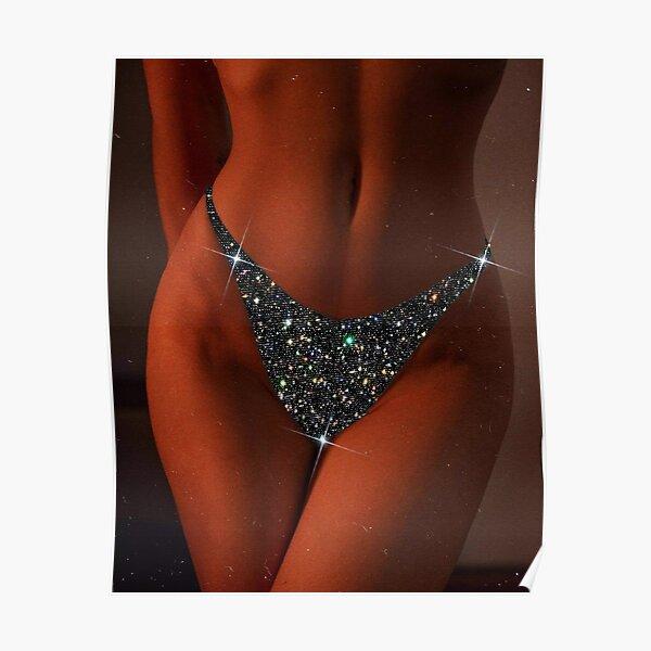 Glitter panties Poster