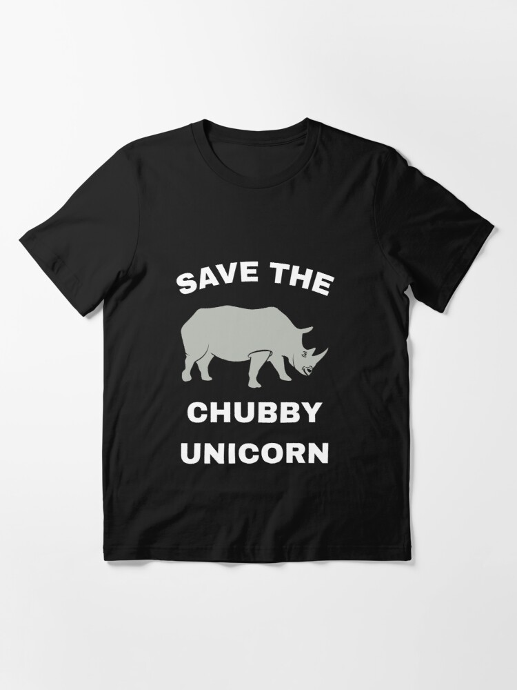 Alternate view of Stop Poaching Rhinos - Save The Chubby Unicorn Essential T-Shirt